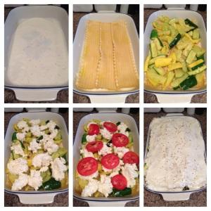 Step by step Summer Squash Lasagna