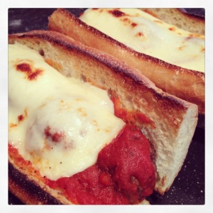 Grilled Meatball Parmesan Sub