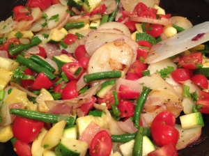 Fresh, vibrant Vegetable Hash