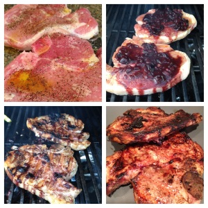 Step-by-step, juicy grilled pork chops, a great chicken alternative!
