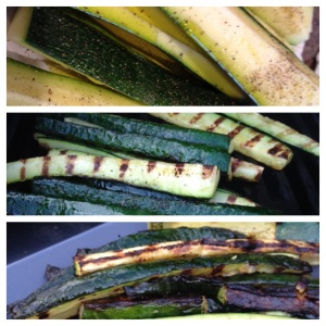 Grilled zucchini; all you need is EVOO, salt and pepper!