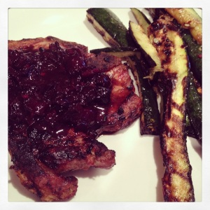 Cherry Balsamic Glazed Pork Chops