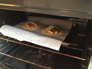 In the oven they go!
