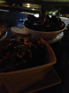 Mussels and crisp brussel sprouts