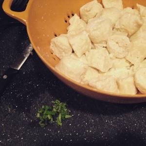 My first attempt at homemade dumplings!
