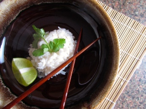 Coconut milk makes for perfect rice...no frills needed!