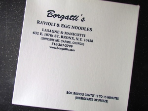 Borgatti's ravioli is simply savory!