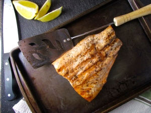 Restaurant quality seared salmon in a matter of minutes on the grill!