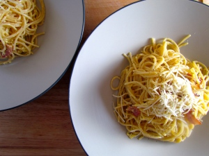 Rich and decadent Spaghetti all carbonara