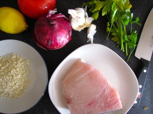 These ingredients compliment each other perfectly without overbearing the fish
