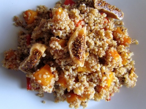 Sweet figs balance buttery squash and grainy quinoa